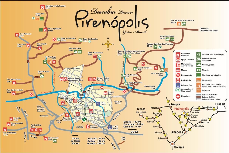 Mapa Turístico de Pirenópolis - Versão 2010