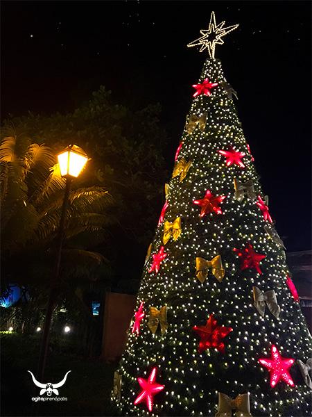 Inaugurada a maior iluminação de Natal que o Largo do Bonfim já recebeu