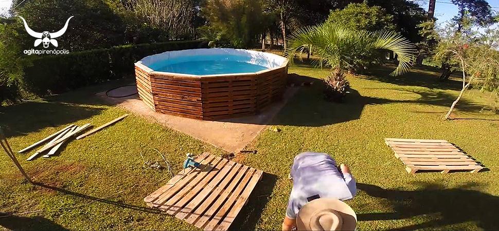 Em Pirenópolis, a moda agora será piscina de paletes
