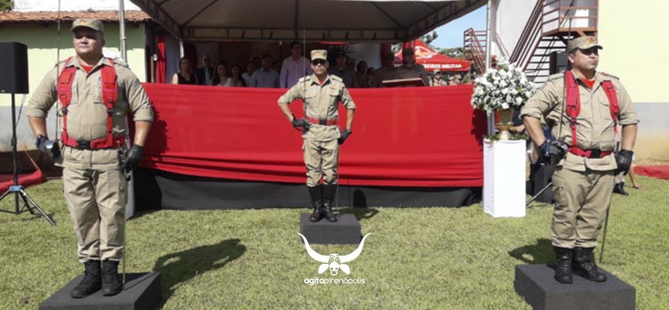 Corpo de bombeiros promove passagem de comando da CIBM de Pirenópolis