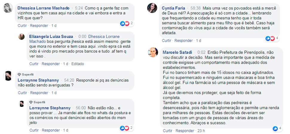 Transmissões ao vivo com o prefeito João do Léo