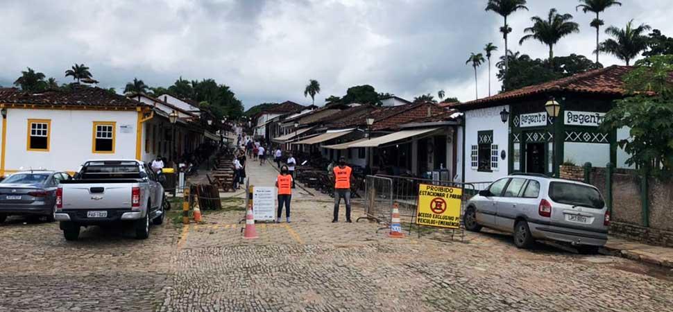 Empresários da Rua do Lazer fazem ação contra Covid-19 em Pirenópolis sec