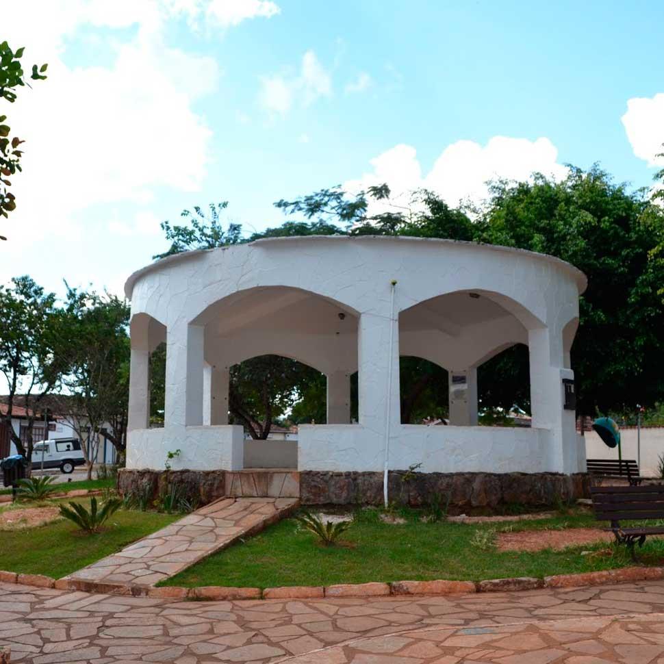 Lugares para encontrar artesanato em Pirenópolis Praça do Coreto