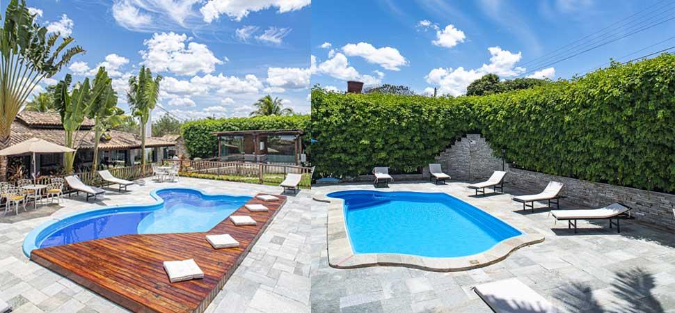 Pousadas com piscinas climatizadas para a época do frio em Pirenópolis